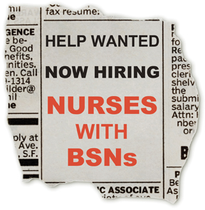 rn vs bsn Students enrolled in the bachelor of science in nursing with a specialization in rn-to-bsn (ccne accredited) program have an opportunity to study.
